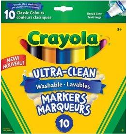 Crayola MARKER SET-CRAYOLA WASHABLE, CONICAL, 10 CLASSIC COLOURS