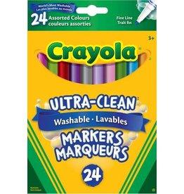 Crayola MARKER SET-CRAYOLA WASHABLE, FINE LINE, 24 COLOURS