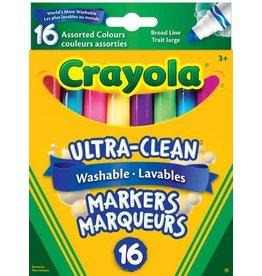 Crayola MARKER SET-CRAYOLA WASHABLE, CONICAL, 16 COLOURS