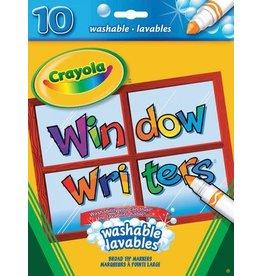 Crayola MARKER SET-CRAYOLA WINDOW WRITERS, 10 COLOURS