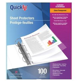 Davis Group SHEET PROTECTOR-LETTER, QUICKFIT 2 MIL CLEAR 100/BOX