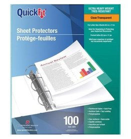 Davis Group SHEET PROTECTOR-LETTER, QUICKFIT 4 MIL CLEAR 100/BOX