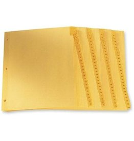 TOPS Products INDEX DIVIDERS-PRINTED TAB 11X8.5 1-100 BUFF, 100/SET