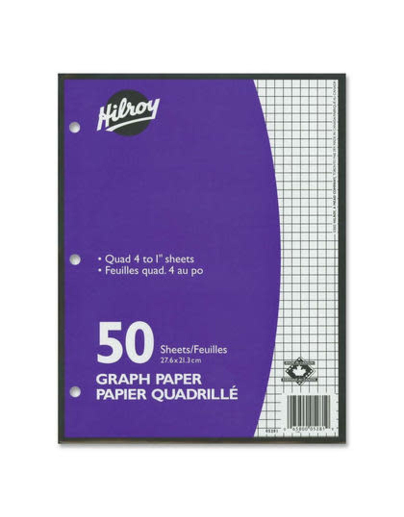 Hilroy BINDER PAPER-50 SHEET GRAPH QUAD 4/INCH