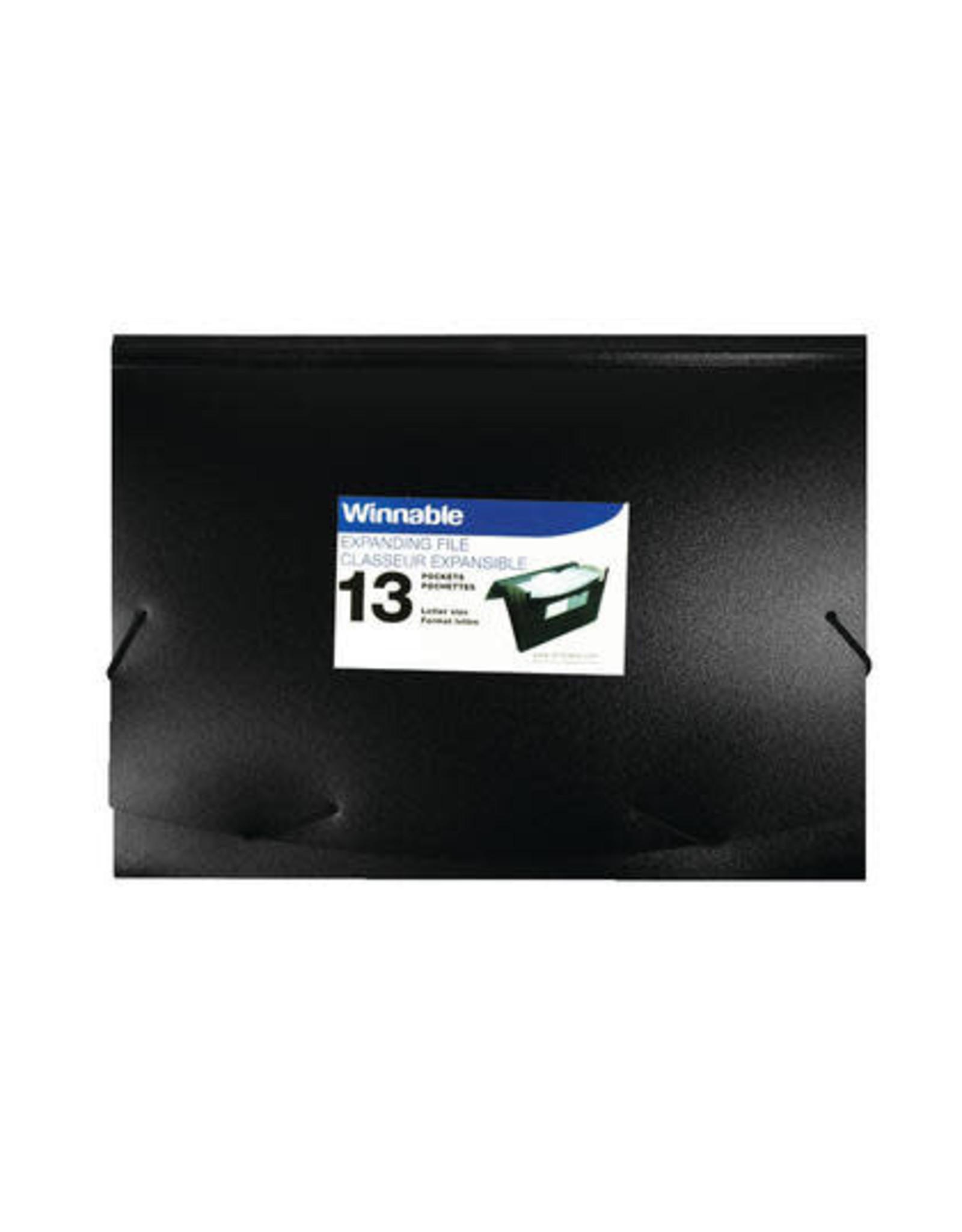 Winnable Enterprises FILE-EXPANDING, 13 POCKET POLY, 10X12, W/INDEX TABS