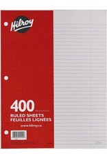 Hilroy BINDER PAPER-400 SHEET RULED WITH MARGIN