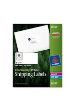 Avery LABELS-SHIPPING, ECO FRIENDLY 2X4 WHITE 1000/BOX