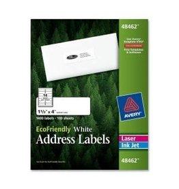 Avery LABELS-ADDRESS, ECO FRIENDLY 1-1/3X4 WHITE 1400/BOX