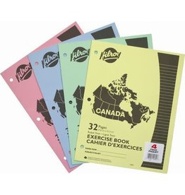 Hilroy EXERCISE BOOK-STITCHED 10-7/8X8-3/8 32 PAGE 3-HOLE 4/PACK