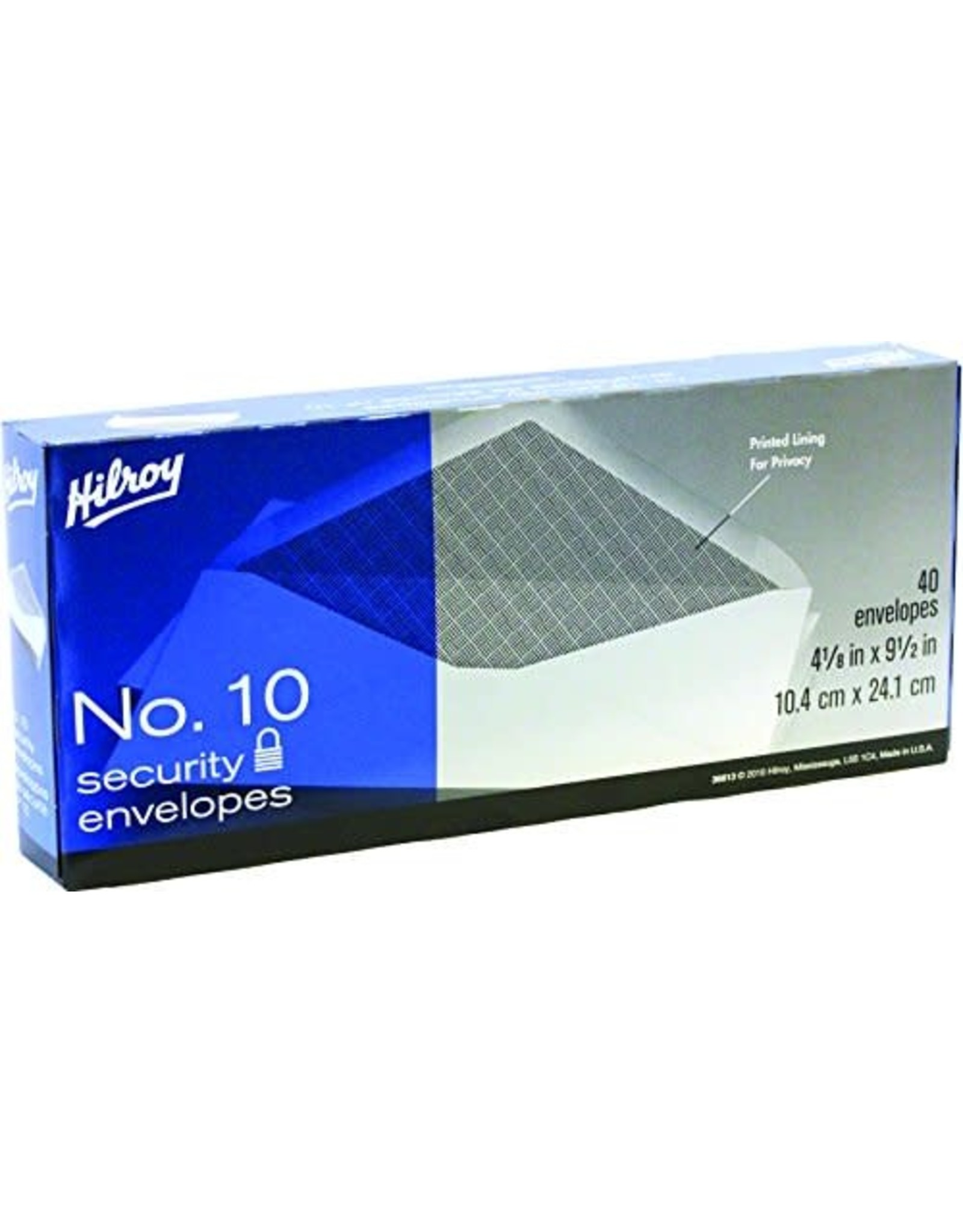 Hilroy ENVELOPE-#10 WHITE, SECURITY 40/BOX