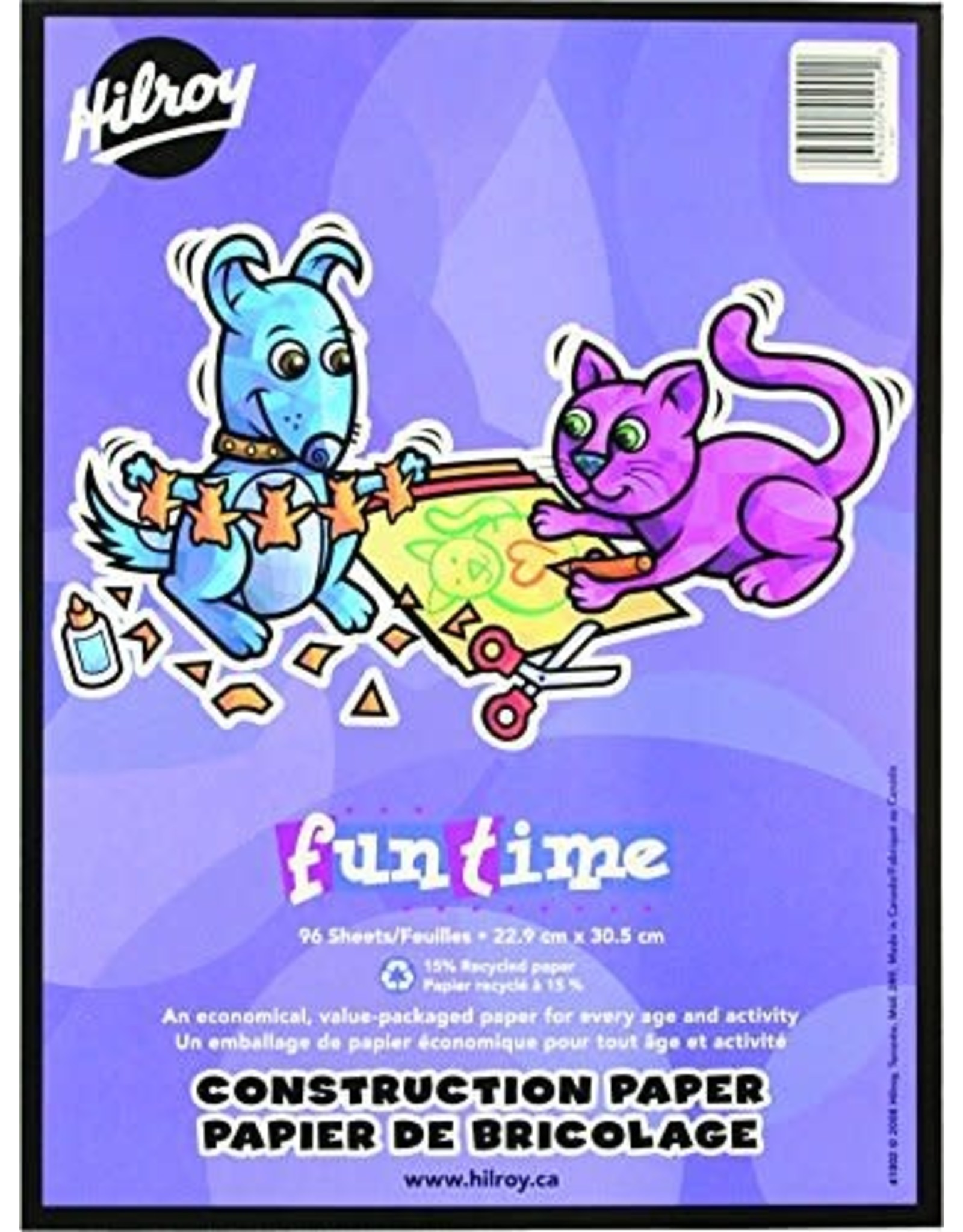 Hilroy CONSTRUCTION PAPER PAD-9X12 FUNTIME  96 SHEET