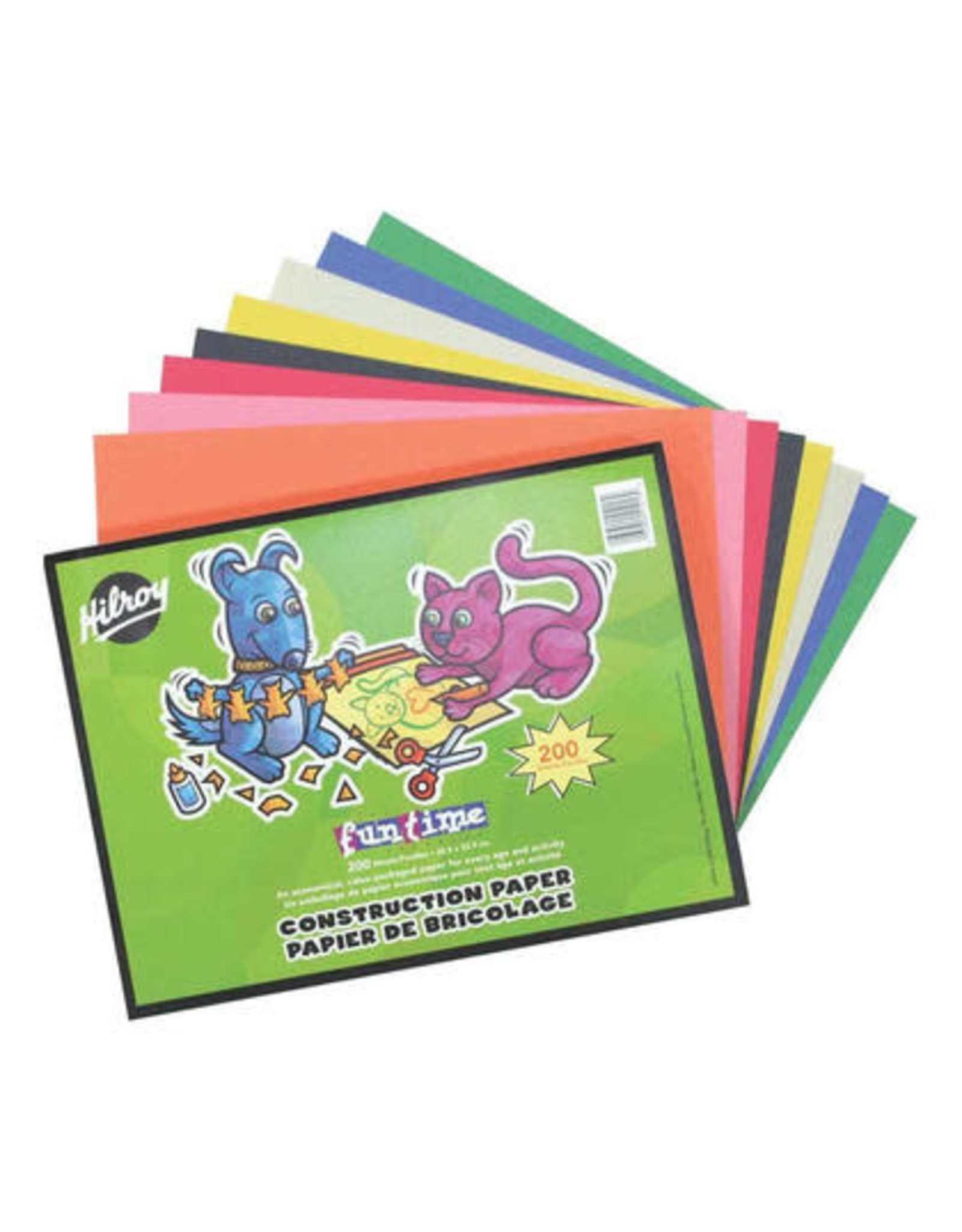 Hilroy CONSTRUCTION PAPER PAD 12X9 FUNTIME 200 SHEET
