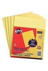 Hilroy FIGURING PAD-LETTER RULED CANARY NEWSPRINT 5/PACK