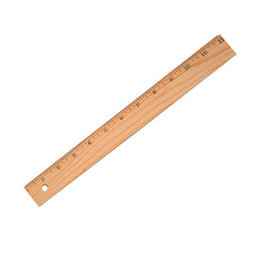 Acme United RULER-12''/30CM  WOOD WITH METAL EDGE, 1/16''