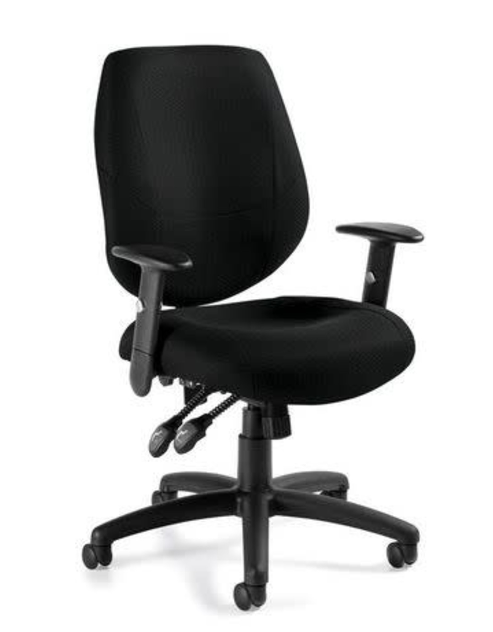 Offices to Go Chair - Office to Go - Operator Six 31 Medium Back, Quilt Black