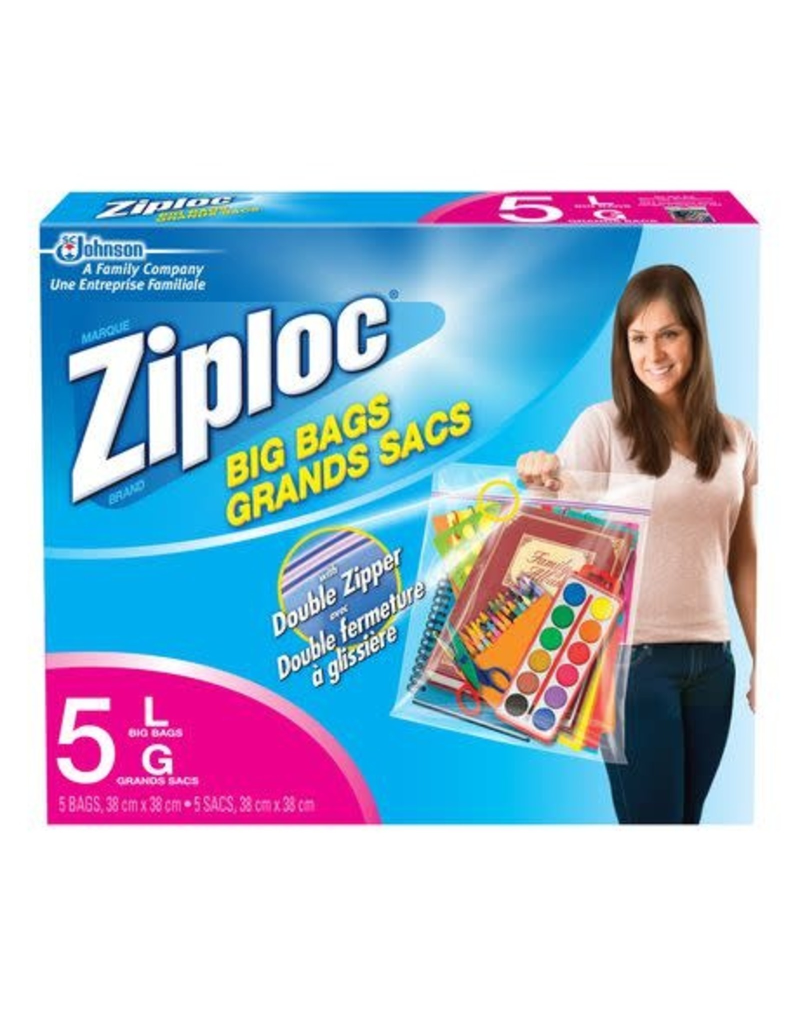 S.C. Johnson BAGS-ZIPLOC BIG BAGS, LARGE 5/BX