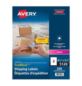 Avery LABELS-SHIPPING TRUEBLOCK WHITE 5-1/2X8-1/2 200/BOX