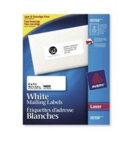 Avery LABELS-ADDRESS WHITE 1-1/2X4 1400/BOX