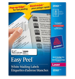 Avery LABELS-ADDRESS EASY PEEL WHITE 1X4 2000/BOX