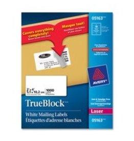 Avery LABELS-SHIPPING TRUEBLOCK WHITE 2X4 1000/BOX