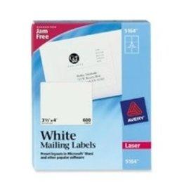 Avery LABELS-SHIPPING TRUEBLOCK WHITE 3-1/3X4 600/BOX