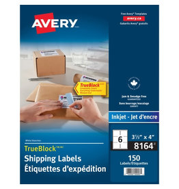Avery LABELS-SHIPPING TRUEBLOCK WHITE 3-1/3X4150/EV