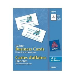 Avery BUSINESS CARDS-2X3-1/2 MATTE WHITE PERFORATED 250/EV