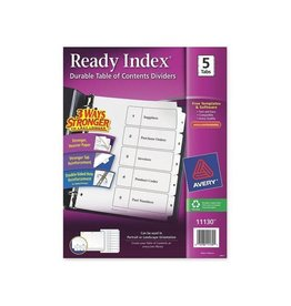 Avery INDEX DIVIDERS-READY INDEX 5-TAB BLACK ON WHITE