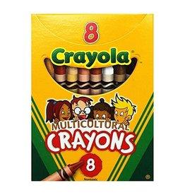 Crayola CRAYONS-MULTICULTURAL, CRAYOLA, 8 COLOURS