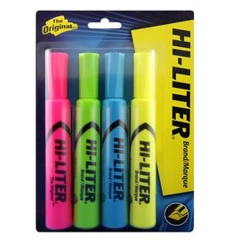 Avery HIGHLIGHTER-HILITER CHISEL TIP, YELLOW/ GREEN/ BLUE/ PINK