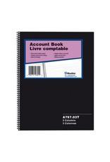 Blueline ACCOUNT BOOK-WIRE, 100 PAGE WHITE 10.25X8  3 COLUMN