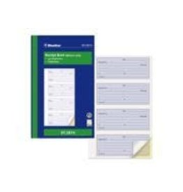 Blueline RECEIPT BOOK-NCR 200 DUPLICATE 4-UP 10-7/8X6-3/4 ENGLISH