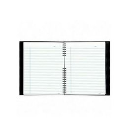 Blueline Notebook - Notepro, 200 Page Twin-Wire 10-3/4X8-1/2, Black