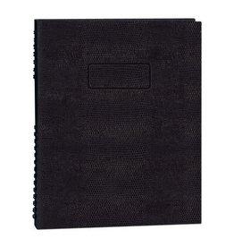 Blueline NOTEBOOK-NOTEPRO, 192 PAGE TWIN-WIRE 9.25X7.25 BLACK
