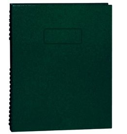 Blueline NOTEBOOK-NOTEPRO, 192 PAGE TWIN-WIRE 9.25X7.25 GREEN