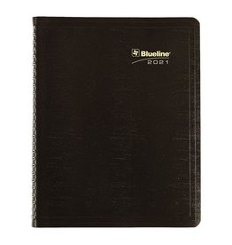 Blueline PLANNER-16 MONTH, WIRE 9-1/4X7-1/4 BLACK, BILINGUAL  2021