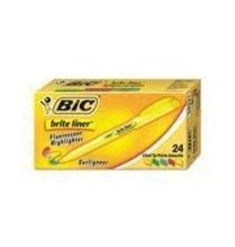 Bic HIGHLIGHTER-BRITE LINER CHISEL TIP, ASST 24/BX -BL241-AST