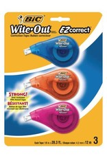 Bic CORRECTION TAPE-WITE-OUT EZ CORRECT 3-PACK-WOTAPP31