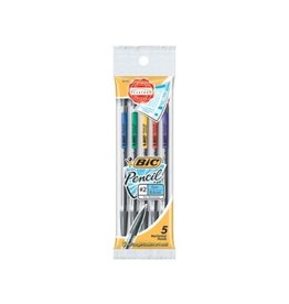 Bic PENCIL-MECHANICAL BIC REFILLABLE 0.5MM 5-PACK -MPFP51N