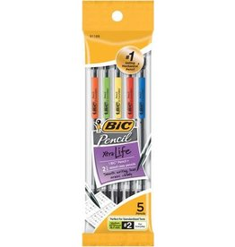 Bic PENCIL-MECHANICAL BIC REFILLABLE 0.7MM 5-PACK -MPP51N