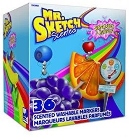 Newell Brands MARKER SET-MR. SKETCH SCENTED, WASHABLE CHISEL, BOX OF 36