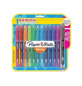 Paper Mate PEN-STICK, PAPER MATE INKJOY GEL, 0.7MM, 12 FASHION COLOURS