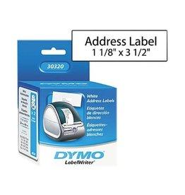 Dymo LABELS-DYMO LABELWRITER, ADDRESS 1-1/8X3-1/2, 520/PK