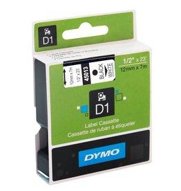 Dymo TAPE-DYMO D1, 1/2'' BLACK ON WHITE