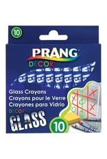 Prang CRAYONS-GLASS, PRANG DECOR  ASSORTED 10/PACK