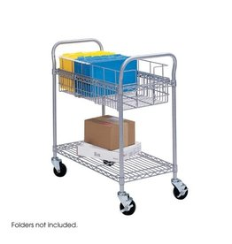 """Safco Products MAIL CART-36"""" WIRE, GREY"""