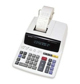 Sharp CALCULATOR-PRINTING AC 12 DIGIT 2-COLOUR 3.5LPS