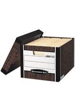 Fellowes FILE BOX-R KIVE, LETTER/LEGAL WOODGRAIN 12/CARTON