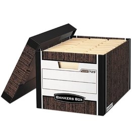 Fellowes FILE BOX-R KIVE, LETTER/LEGAL WOODGRAIN 12/CARTON