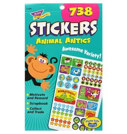 TREND Enterprises STICKERS-VARIETY PACK, ANIMAL ANTICS